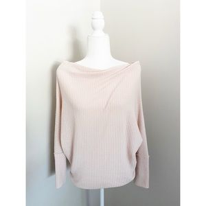 Umgee Waffle Knit Wide Neck Top